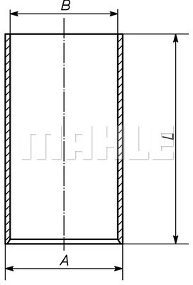 Chemise de cylindre MAHLE 007 WV 09 00 (X1)