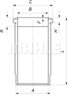 Chemise de cylindre MAHLE 037 WN 07 00 (X1)