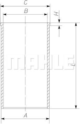 Chemise de cylindre MAHLE 503 WV 47 00 (X1)