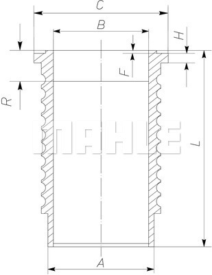 Chemise de cylindre MAHLE 061 WN 12 01 (X1)