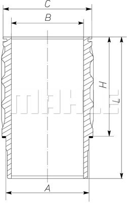 Chemise de cylindre MAHLE 061 WN 27 01 (X1)