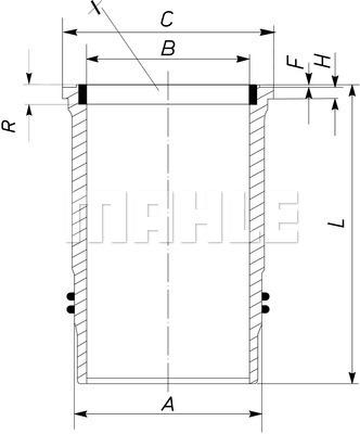 Chemise de cylindre MAHLE 005 WN 10 01 (X1)