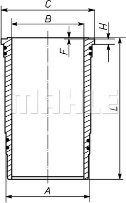 Chemise de cylindre MAHLE 227 WN 37 01 (X1)