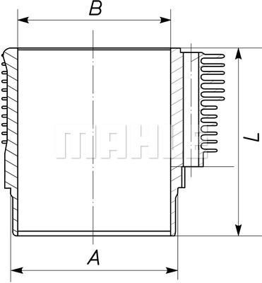 Chemise de cylindre MAHLE 503 WR 26 00 (X1)