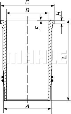 Chemise de cylindre MAHLE 225 WN 04 01 (X1)