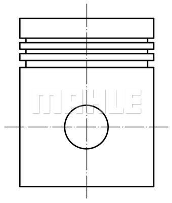 Piston moteur MAHLE 002 02 01 (X1)