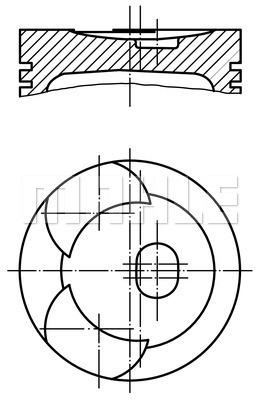 Piston moteur MAHLE 002 44 00 (X1)