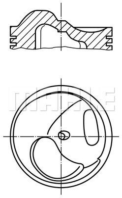 Piston moteur MAHLE 503 55 00 (X1)