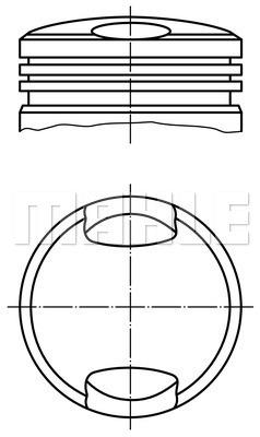 Piston moteur MAHLE 503 37 00 (X1)