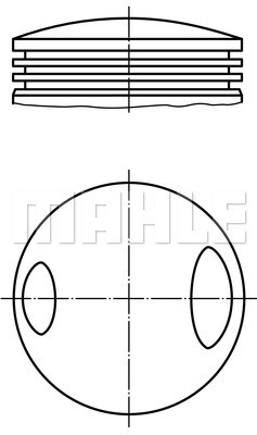 Piston moteur MAHLE 503 60 00 (X1)