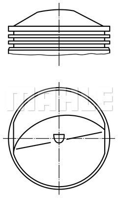 Piston moteur MAHLE 503 71 00 (X1)
