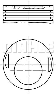 Piston moteur MAHLE 002 17 20 (X1)