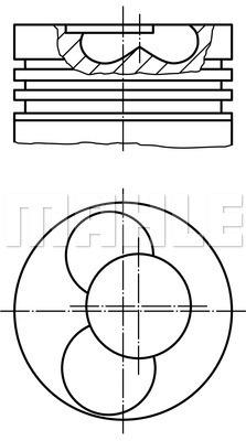 Piston moteur MAHLE 030 87 02 (X1)