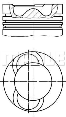 Piston moteur MAHLE 209 72 00 (X1)