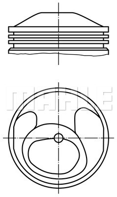 Piston moteur MAHLE 503 58 00 (X1)
