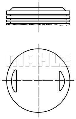 Piston moteur MAHLE 504 29 00 (X1)