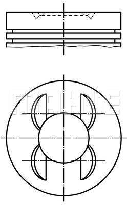 Piston moteur MAHLE 503 PI 00106 000 (X1)
