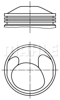 Piston moteur MAHLE 503 59 00 (X1)