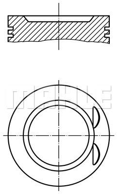 Piston moteur MAHLE 033 21 02 (X1)