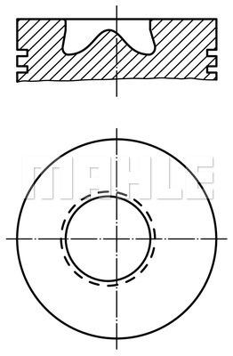 Piston moteur MAHLE 002 81 00 (X1)
