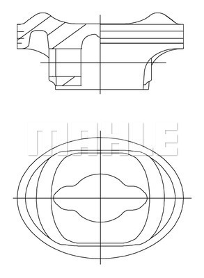 Piston moteur MAHLE 504 36 00 (X1)