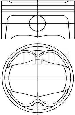 Piston moteur MAHLE 503 PI 00101 000 (X1)