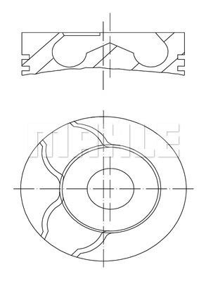 Piston moteur MAHLE 022 01 02 (X1)