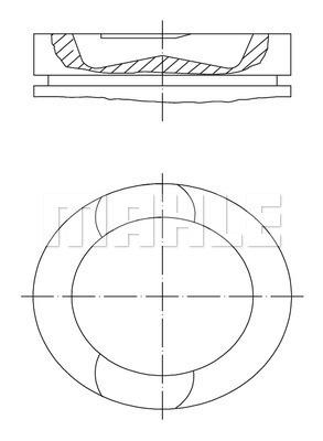 Piston moteur MAHLE 209 73 00 (X1)