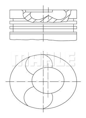Piston moteur MAHLE 028 PI 00112 002 (X1)