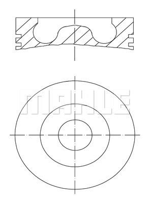 Piston moteur MAHLE 028 02 00 (X1)