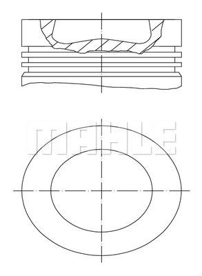 Piston moteur MAHLE 028 PI 00100 001 (X1)