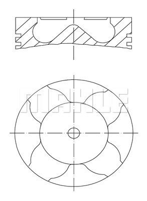 Piston moteur MAHLE 033 42 00 (X1)