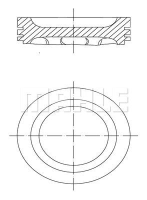 Piston moteur MAHLE 222 01 02 (X1)