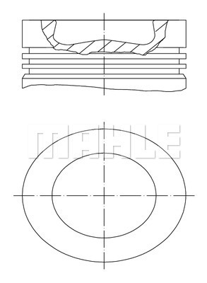 Piston moteur MAHLE 028 PI 00116 001 (X1)