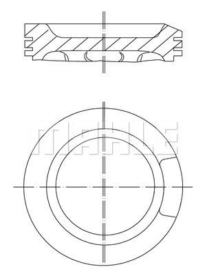 Piston moteur MAHLE 033 04 00 (X1)