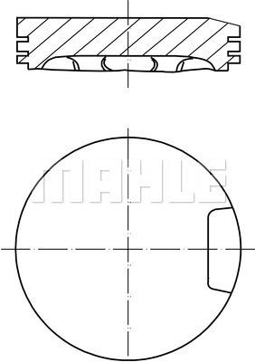 Piston moteur MAHLE 033 13 02 (X1)