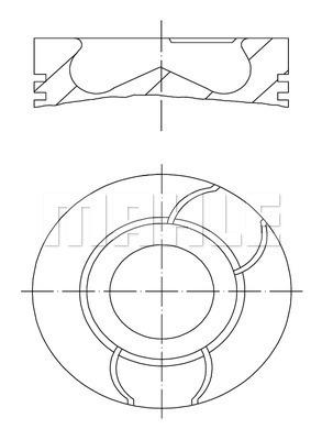 Piston moteur MAHLE 040 03 00 (X1)