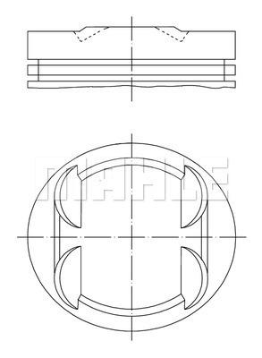 Piston moteur MAHLE 001 34 00 (X1)
