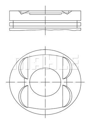 Piston moteur MAHLE 503 97 01 (X1)