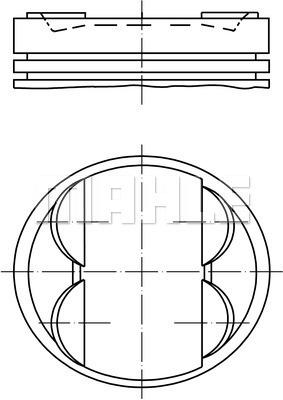 Piston moteur MAHLE 503 PI 00100 000 (X1)