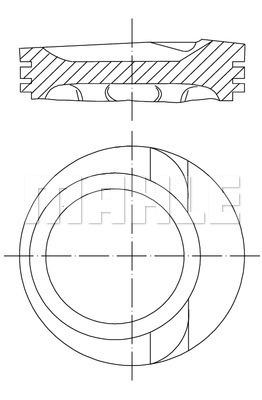 Piston moteur MAHLE 030 68 00 (X1)