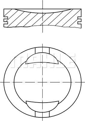 Piston moteur MAHLE 009 36 01 (X1)