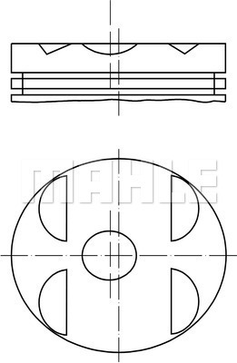 Piston moteur MAHLE 001 04 10 (X1)