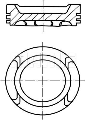 Piston moteur MAHLE 030 60 13 (X1)