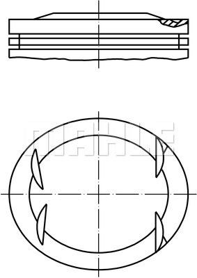 Piston moteur MAHLE 001 41 01 (X1)