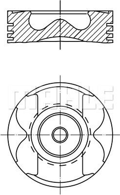 Piston moteur MAHLE 005 22 01 (X1)