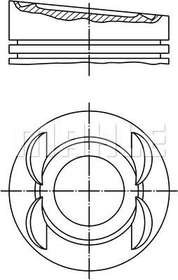 Piston moteur MAHLE 028 03 01 (X1)