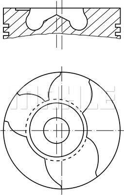 Piston moteur MAHLE 151 10 00 (X1)
