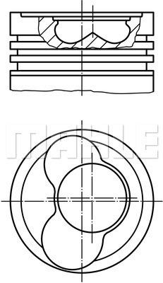 Piston moteur MAHLE 030 66 00 (X1)