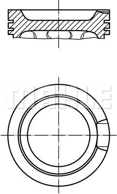 Piston moteur MAHLE 033 16 02 (X1)